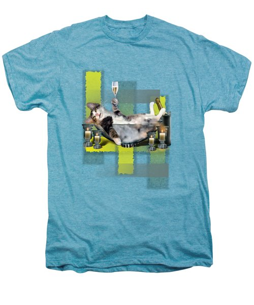 Funny Pet Print With A Tipsy Kitty  Men's Premium T-Shirt by Regina Femrite
