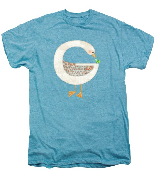 G Is For Goose And Grasshopper Men's Premium T-Shirt by Valerie Drake Lesiak