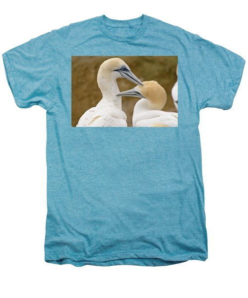 Men's Premium T-Shirt featuring the photograph Gannet Pair 1 by Werner Padarin