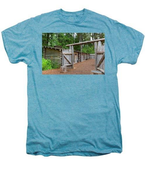 Gate To Log Camp At Fort Clatsop Men's Premium T-Shirt