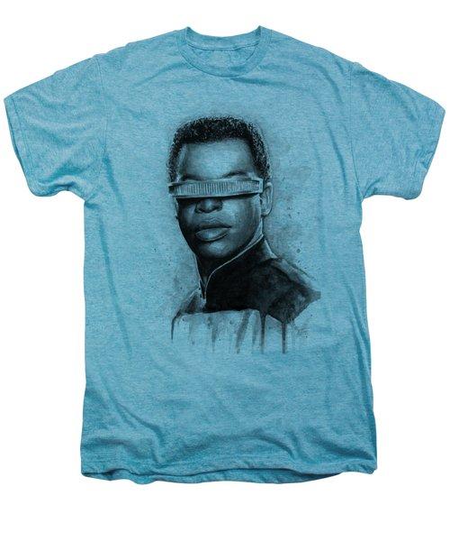 Geordi La Forge - Star Trek Art Men's Premium T-Shirt by Olga Shvartsur
