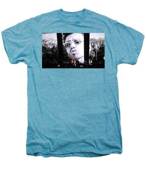 George Michael Sends A Kiss Men's Premium T-Shirt by Toni Hopper