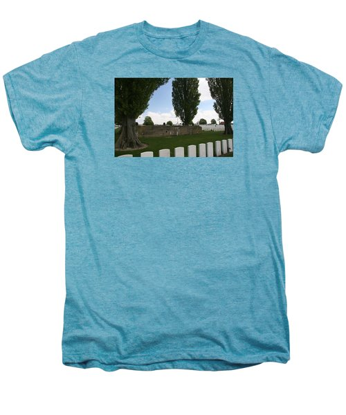 Men's Premium T-Shirt featuring the photograph German Bunker At Tyne Cot Cemetery by Travel Pics