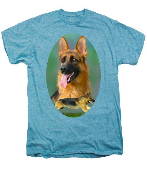 German Shepherd Breed Art Men's Premium T-Shirt