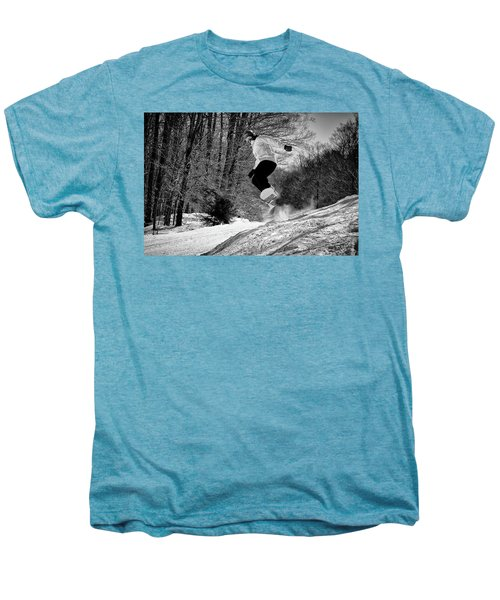 Men's Premium T-Shirt featuring the photograph Getting Air On The Snowboard by David Patterson