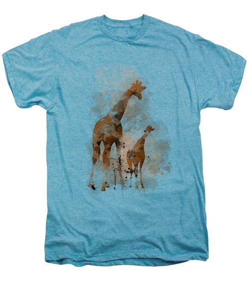 Giraffe And Baby Men's Premium T-Shirt by Marlene Watson