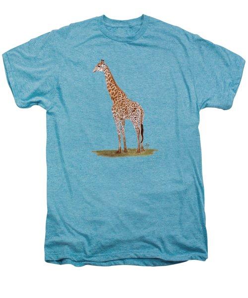 Giraffe Men's Premium T-Shirt by Angeles M Pomata