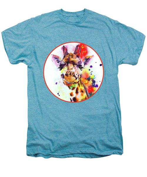 Giraffe Men's Premium T-Shirt by Isabel Salvador