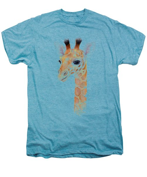Giraffe Watercolor Men's Premium T-Shirt