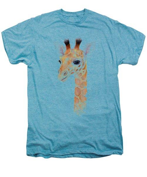 Giraffe Watercolor Men's Premium T-Shirt