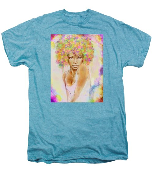 Girl With New Hair Style Men's Premium T-Shirt by Lilia D