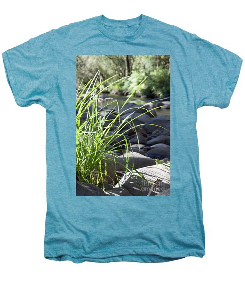 Men's Premium T-Shirt featuring the photograph Glistening In The Sunlight by Linda Lees