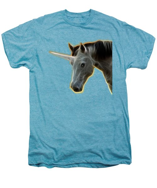 Glowing Unicorn Men's Premium T-Shirt by Shane Bechler