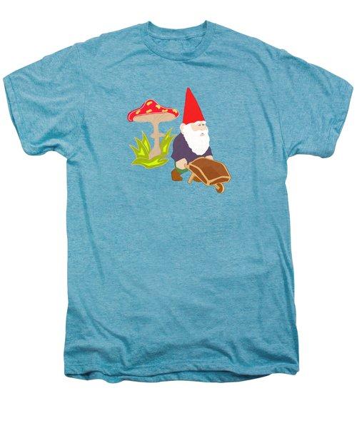 Gnome Garden Men's Premium T-Shirt by Priscilla Wolfe