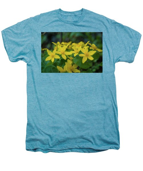 Men's Premium T-Shirt featuring the photograph Gold In The Marsh by Bill Pevlor