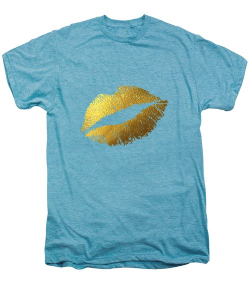 Gold Lips Men's Premium T-Shirt by BONB Creative