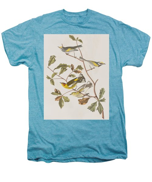 Golden Winged Warbler Or Cape May Warbler Men's Premium T-Shirt by John James Audubon