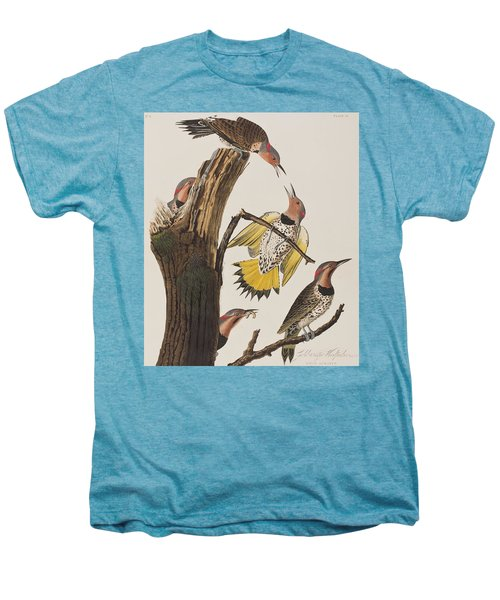 Golden-winged Woodpecker Men's Premium T-Shirt by John James Audubon