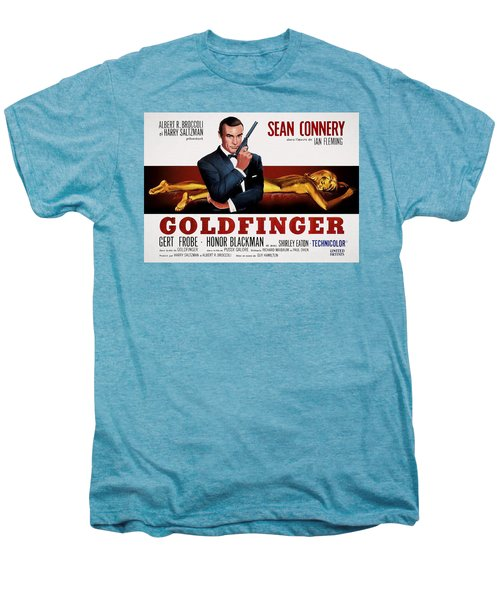 Goldfinger James Bond French Lobby Poster Painterly Men's Premium T-Shirt by Daniel Hagerman