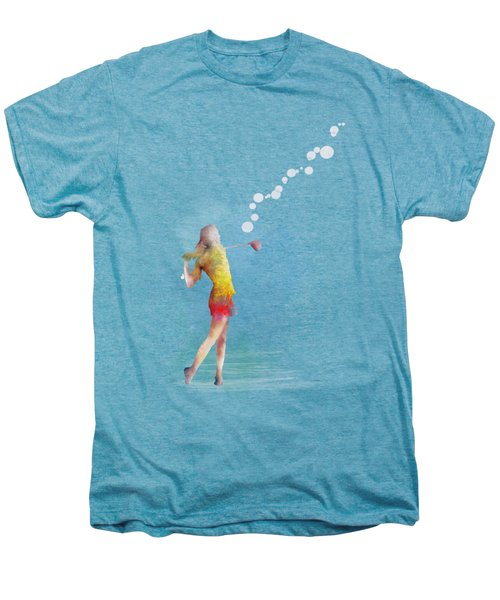 Golfer Men's Premium T-Shirt by Marlene Watson
