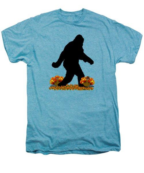 Gone Thanksgiving Squatchin' Men's Premium T-Shirt by Gravityx9   Designs