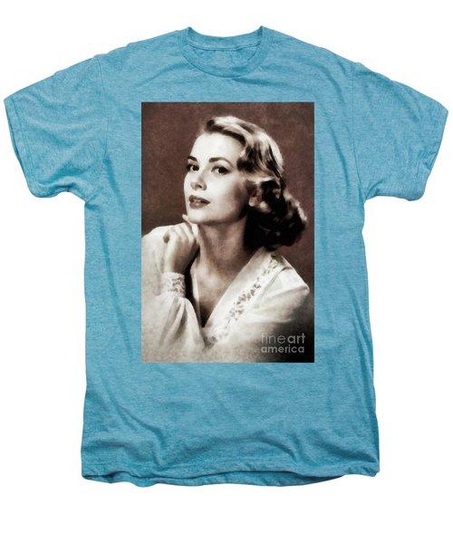 Grace Kelly, Actress, By Js Men's Premium T-Shirt
