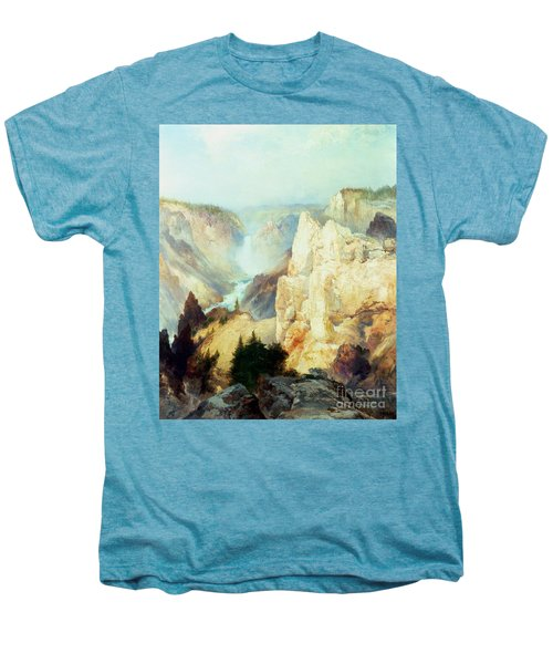 Grand Canyon Of The Yellowstone Park Men's Premium T-Shirt by Thomas Moran