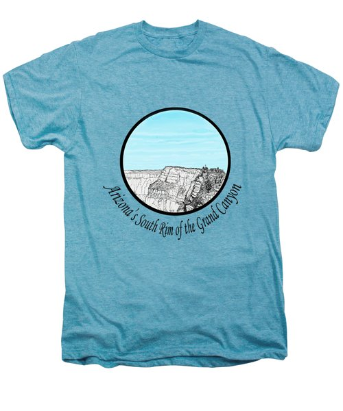 Grand Canyon - South Rim Men's Premium T-Shirt by James Lewis Hamilton