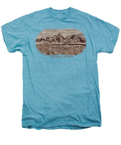 Grand Tetons Woodburning 2 Men's Premium T-Shirt
