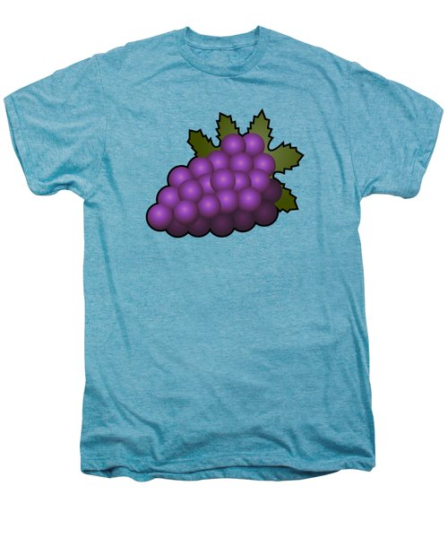 Grapes Fruit Outlined Men's Premium T-Shirt