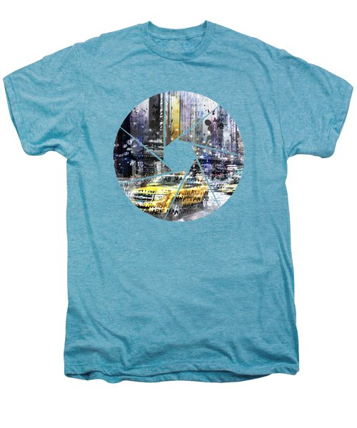Graphic Art New York City Men's Premium T-Shirt by Melanie Viola