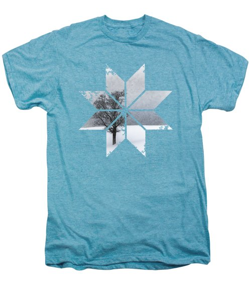 Graphic Art Snowflake Lonely Tree Men's Premium T-Shirt