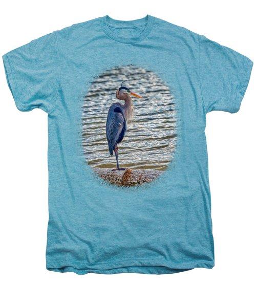 Great Blue Heron Men's Premium T-Shirt