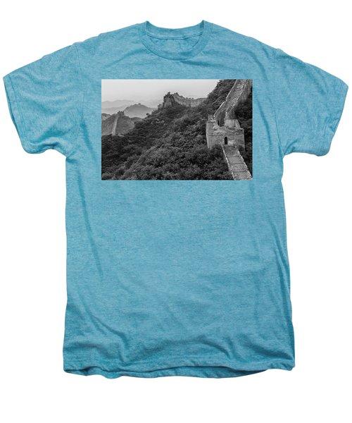 Men's Premium T-Shirt featuring the photograph Great Wall 3, Jinshanling, 2016 by Hitendra SINKAR