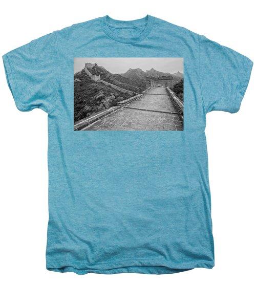 Men's Premium T-Shirt featuring the photograph Great Wall 5, Jinshanling, 2016 by Hitendra SINKAR