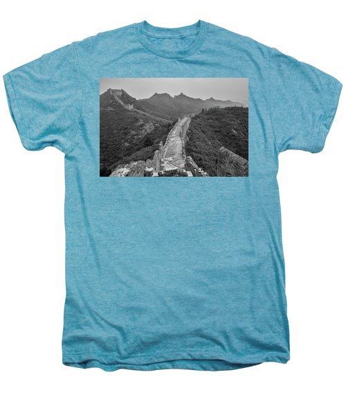 Men's Premium T-Shirt featuring the photograph Great Wall 6, Jinshanling, 2016 by Hitendra SINKAR