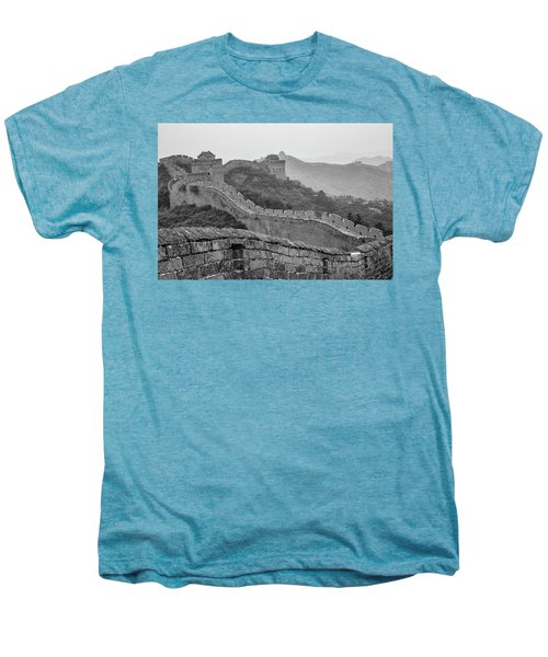Men's Premium T-Shirt featuring the photograph Great Wall 7, Jinshanling, 2016 by Hitendra SINKAR