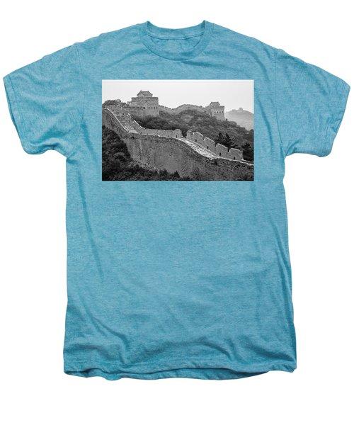 Men's Premium T-Shirt featuring the photograph Great Wall 8, Jinshanling, 2016 by Hitendra SINKAR