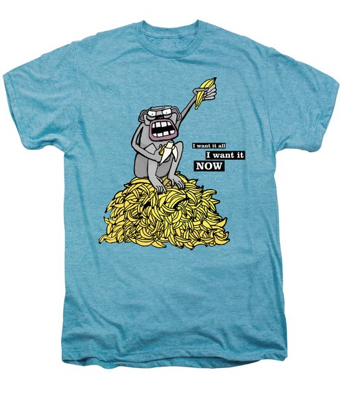 Greedy Monkey Men's Premium T-Shirt by Agata Lisiecka