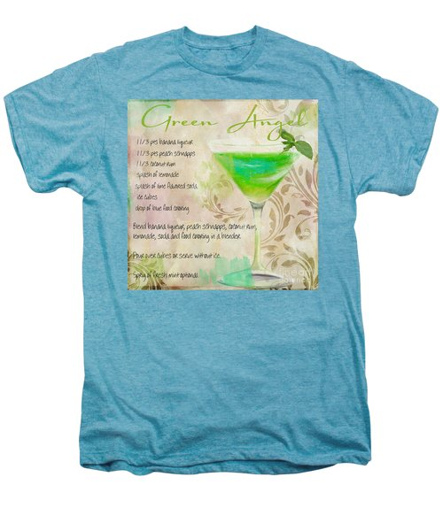 Green Angel Mixed Cocktail Recipe Sign Men's Premium T-Shirt by Mindy Sommers