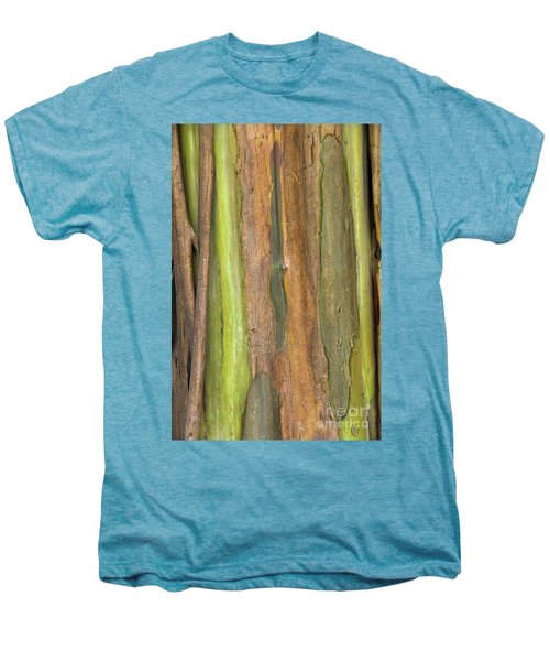 Men's Premium T-Shirt featuring the photograph Green Bark 3 by Werner Padarin