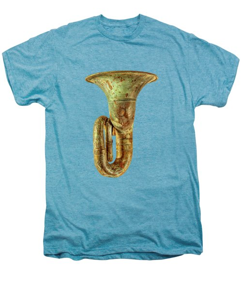 Green Horn Up On Black Men's Premium T-Shirt