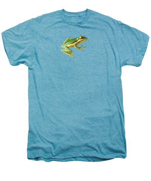 Green Tree Frog Men's Premium T-Shirt by Sarah Batalka
