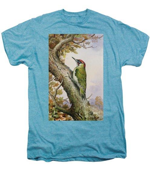 Green Woodpecker Men's Premium T-Shirt by Carl Donner