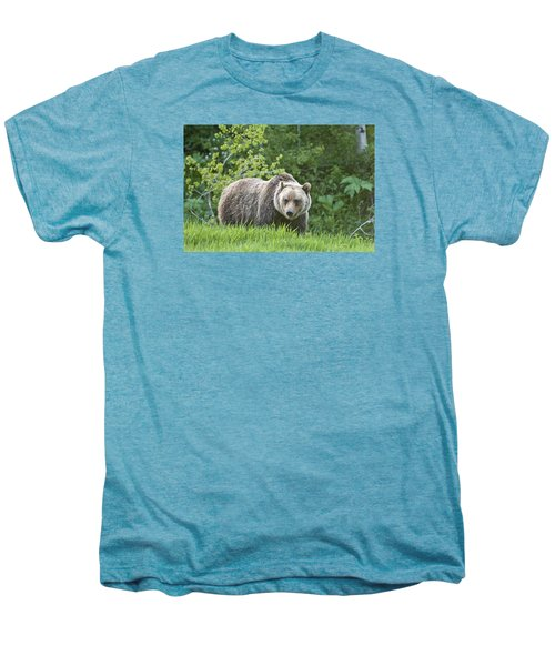Men's Premium T-Shirt featuring the photograph Grizzly Bear by Gary Lengyel
