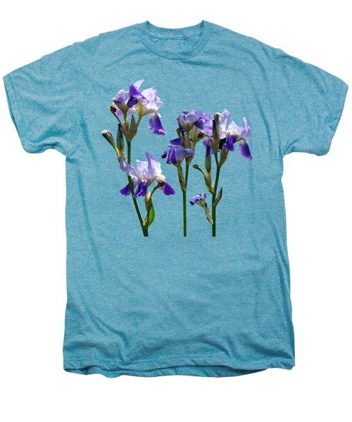 Group Of Purple Irises Men's Premium T-Shirt by Susan Savad