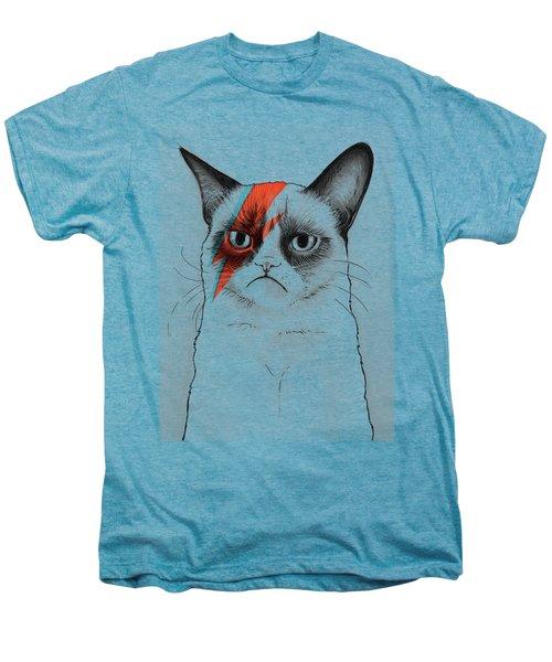 Grumpy Cat As David Bowie Men's Premium T-Shirt
