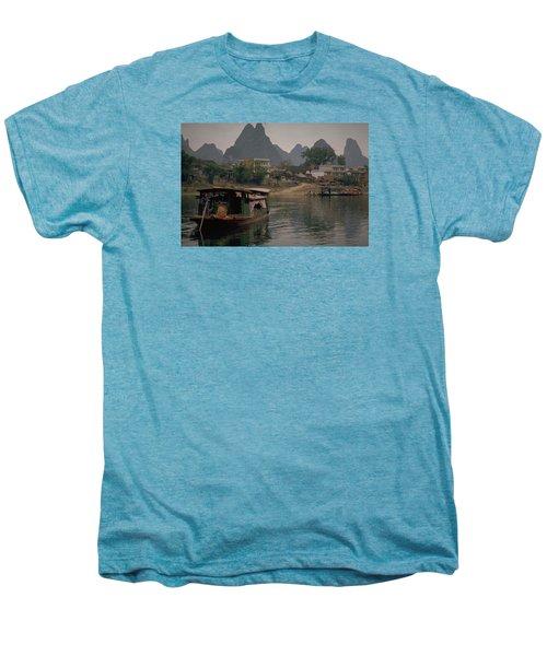 Guilin Limestone Peaks Men's Premium T-Shirt by Travel Pics