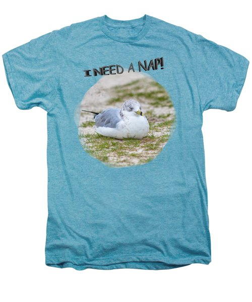 Gull Nap Time Men's Premium T-Shirt by John M Bailey