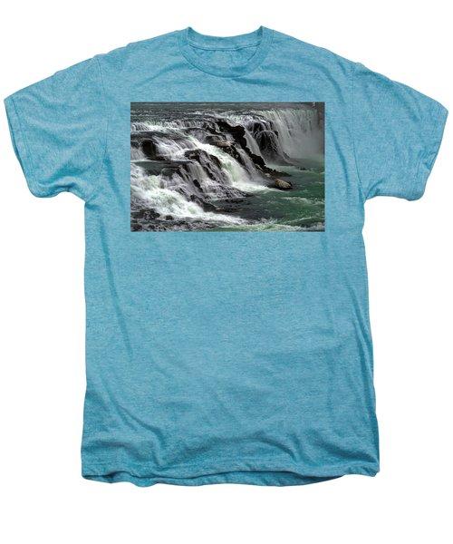 Gullfoss Waterfalls, Iceland Men's Premium T-Shirt by Dubi Roman